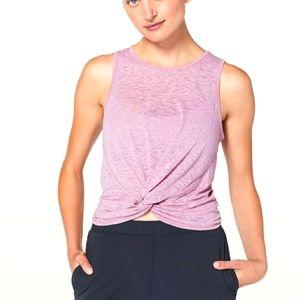 Lululemon Breeze Through Twist Tank Rose Blush